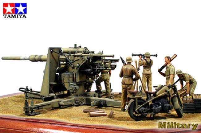 1/35 German 88 mm Gun Flak36 North African Campaign - Imagen 2