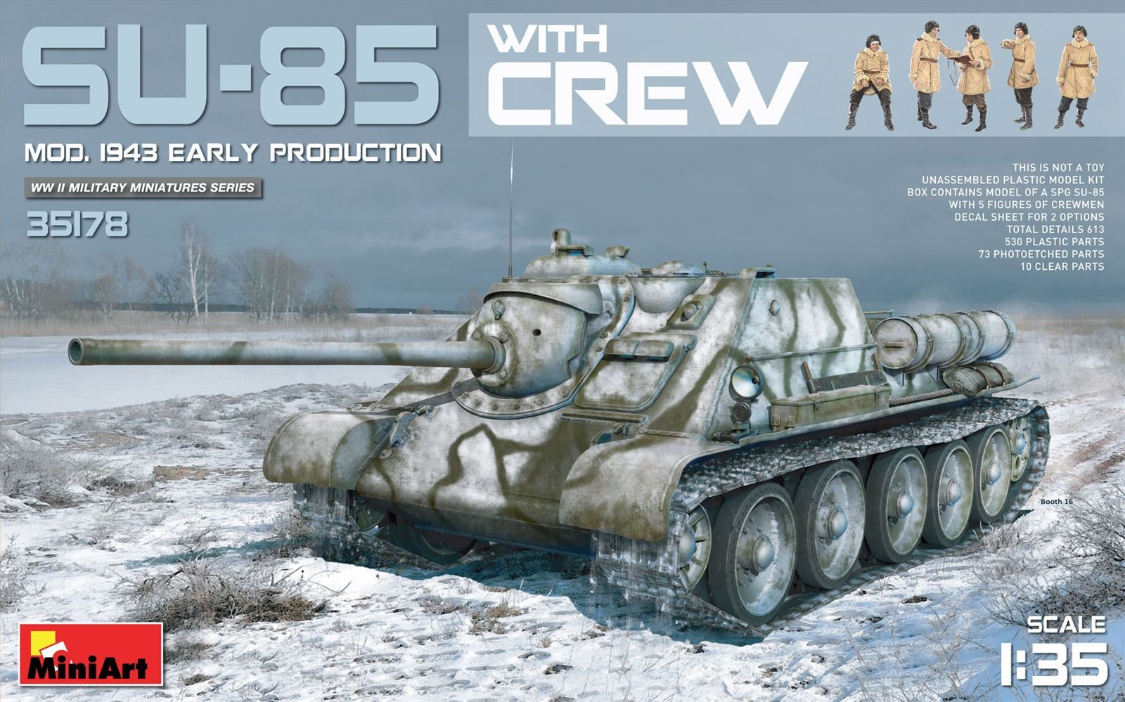 1/35 SU-85 Mod. 1943 (Early Production) w/Crew - Imagen 1