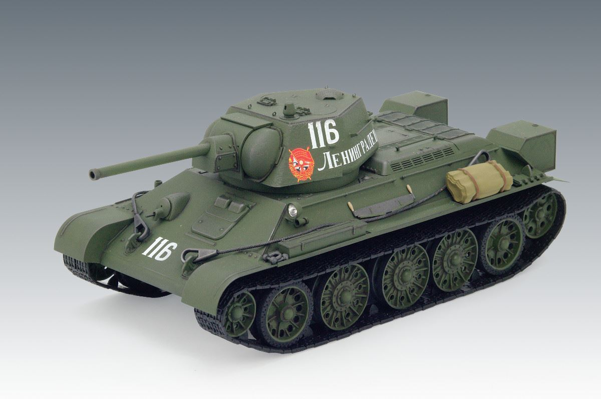 1/35 T-34/76 (early 1943 productions), WWII Soviet Medium Tank (100% new molds) - Imagen 1
