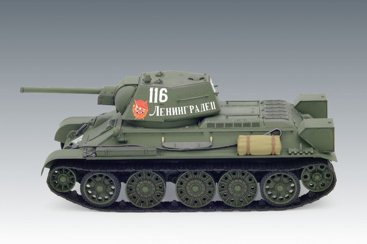 1/35 T-34/76 (early 1943 productions), WWII Soviet Medium Tank (100% new molds) - Imagen 2