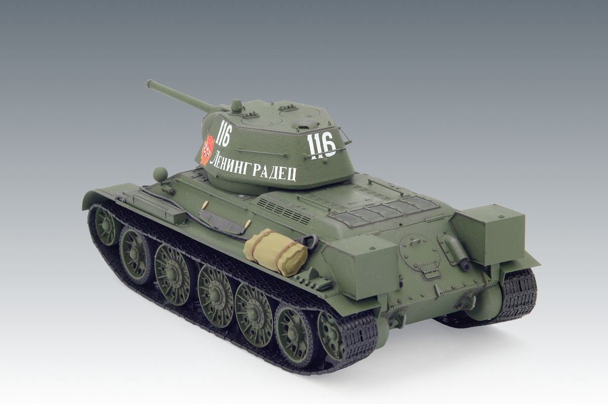 1/35 T-34/76 (early 1943 productions), WWII Soviet Medium Tank (100% new molds) - Imagen 3