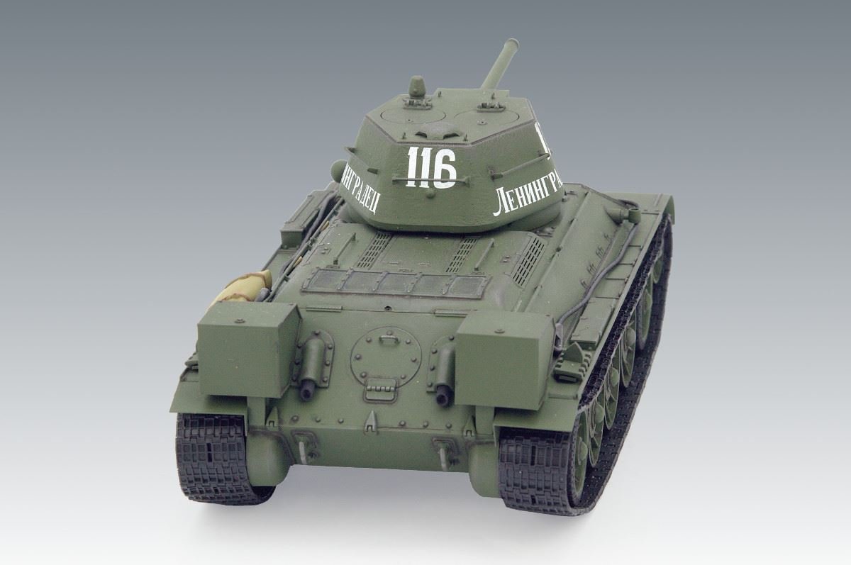 1/35 T-34/76 (early 1943 productions), WWII Soviet Medium Tank (100% new molds) - Imagen 4